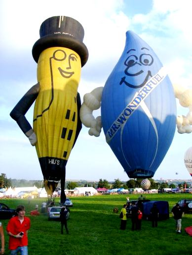 BBM&L balloons at the Bristol International Balloon Fiesta