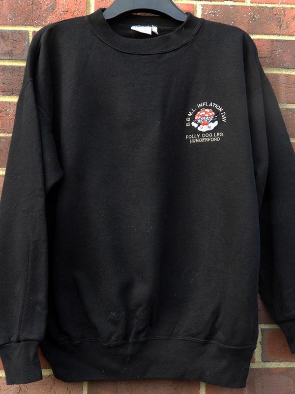 BBML Inflation Day 1992 sweatshirt donated by Jenni & Richard d'Alton.
