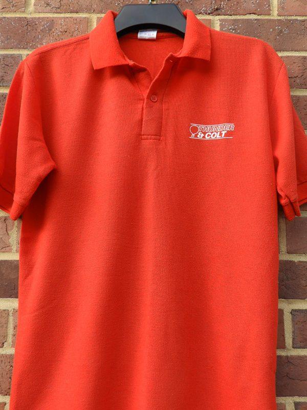 Thunder & Colt polo shirt donated by Tony Delroy via Jeff Roberts.