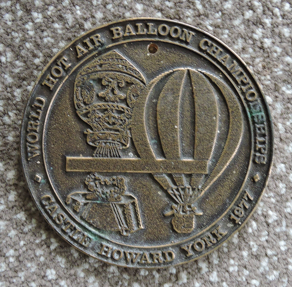 Metal Plaque, 3rd  World Hot Air Balloon Championships, York 1977