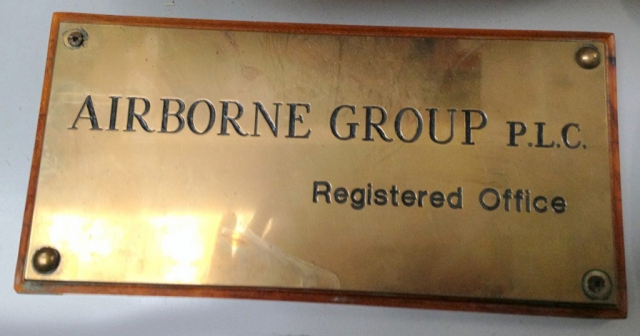 Airbourne Group Company Plaque