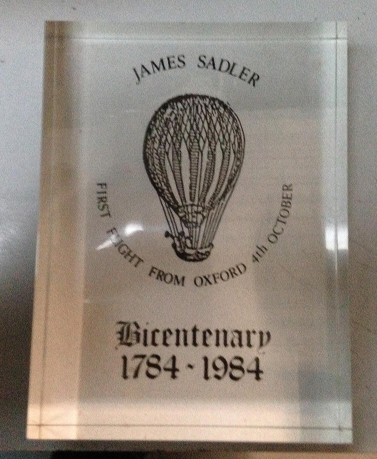 Sadler Bicentennial 1784-1984 Paperweight