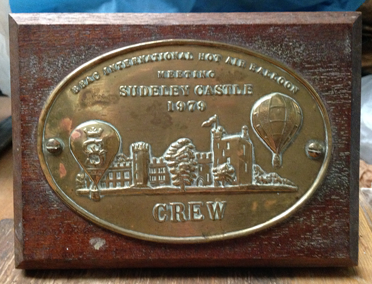BBAC Balloon Meet 1979. Crew Plaque.