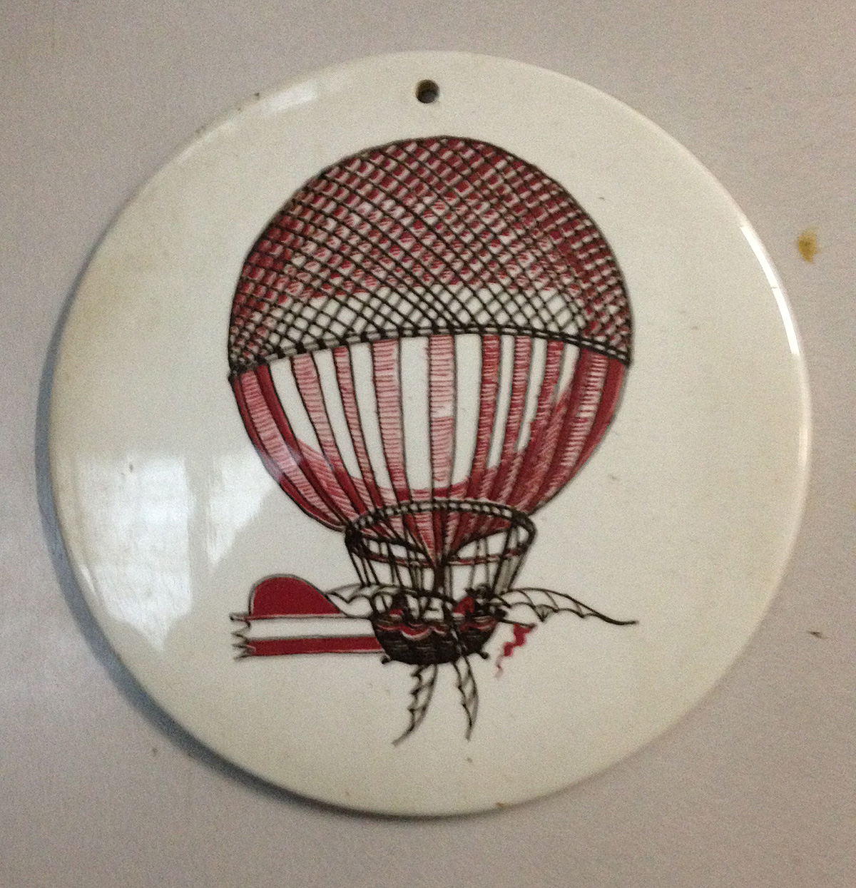 1st Cross Channel Balloon Flight Commemorative China Disk